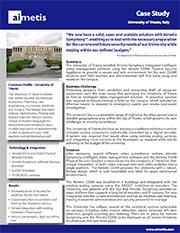 Aimetis University of Trieste Case Story